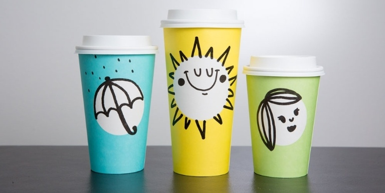 starbucks spring designs drawn